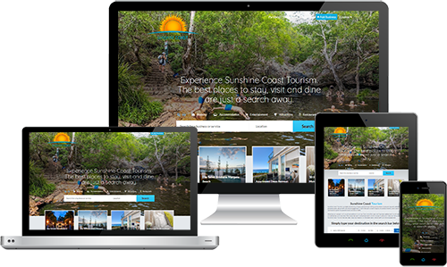 Sunshine Coast Tourism displayed beautifully on multiple devices